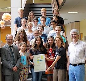 Die jungen Mathe-Talente erhielten Urkunden und Geschenke
