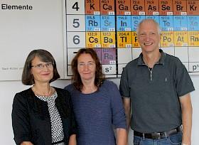 Der stellvertretende Schulleiter Christoph Fisches (rechts) konnte Irene Gerstner und Sabine Konnowski zu ihrem Dienstjubiläum gratulieren.