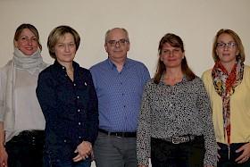 Isabell Haug (Kassenwartin), Ulrike Brache (Öffentlichkeitsarbeit), Dr. Thomas Bartsch (neuer Vorsitzender), Annette Dietl-Faude (Schriftführerin), Stefanie Pöltl (2. Vorstand)