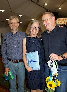 Drei verdiente Lehrkräfte gehen in den Ruhestand: Winfried Krause, Gisela Roquette und Jörg Seiler.